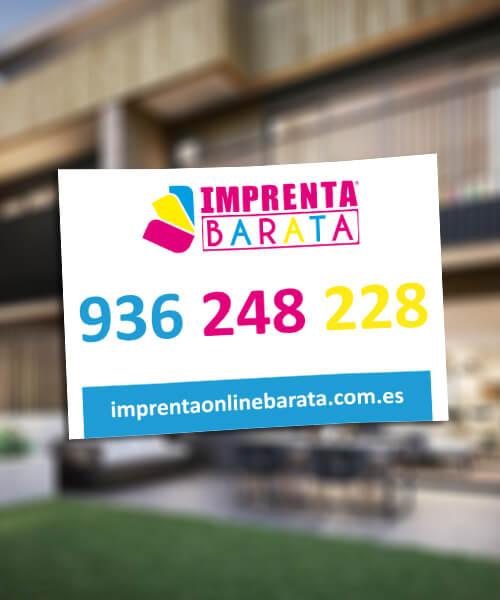 CARTELES PARA INMOBILIARIAS BARATOS