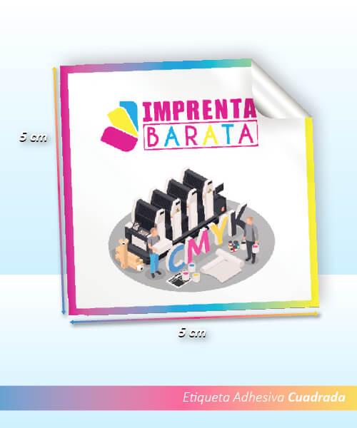 Imprimir Etiquetas 5x5 Adhesivas Cuadradas en Barcelona